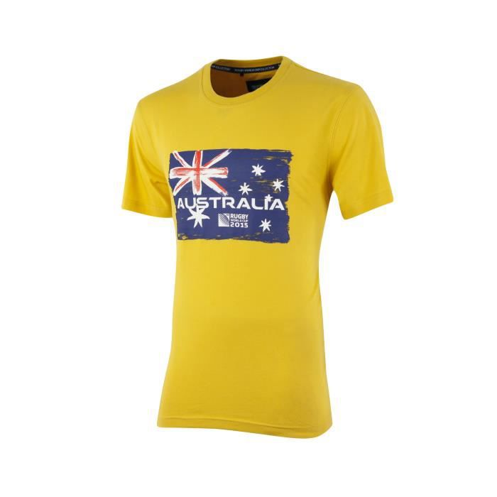 t shirt australie coupe du monde 2015 jaune multicouleur achat vente t shirt cdiscount. Black Bedroom Furniture Sets. Home Design Ideas