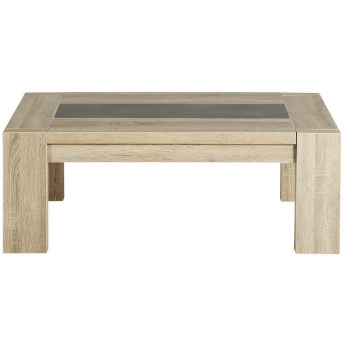 Paris prix table basse phoenix ch ne brut beige - Table basse laquee beige ...