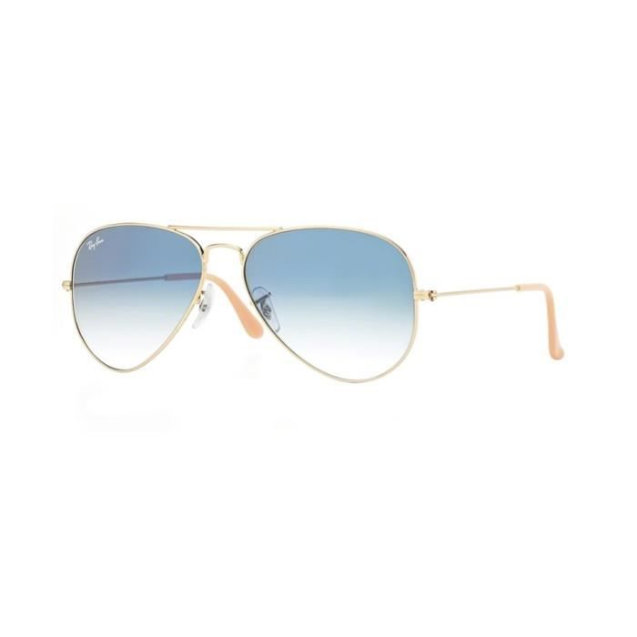 7bfb00b53960d9 Lunettes de soleil Ray-Ban Homme AVIATOR LARGE METAL RB3025 001 3F Or 55 x  47,5
