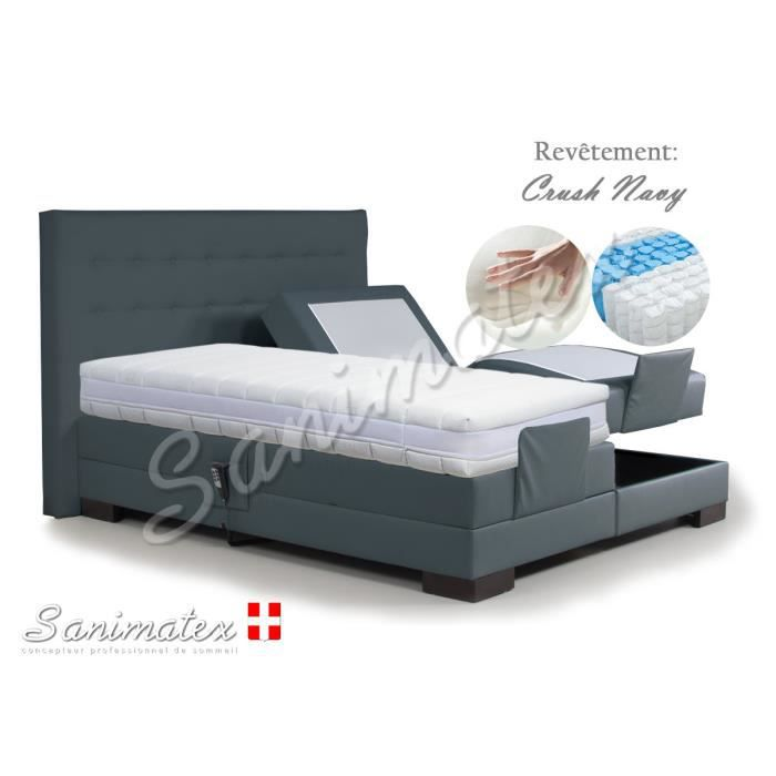 lit electrique boxspring 140x190 kilimanjaro amazonia espresso achat vente lit complet lit. Black Bedroom Furniture Sets. Home Design Ideas