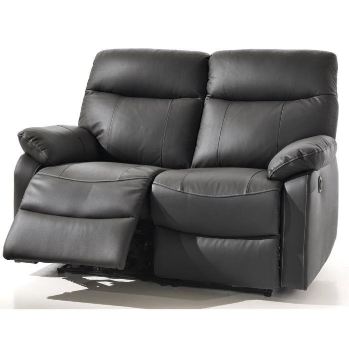canap relaxation 2 places switsofa swan noir achat. Black Bedroom Furniture Sets. Home Design Ideas