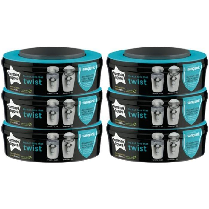 Pack poubelle /à couches Tommee Tippee 6 recharges