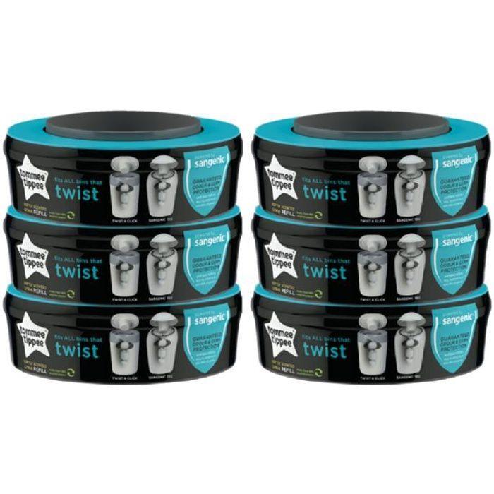 Recharge /équivalente /à 48 Recharges Sangenic 600 M - ECO Recharge de poubelle /à couches Sangenic 100/% Compatible Angelcare Tube en carton pour faciliter la Recharge Liti/ère Litter Locker II