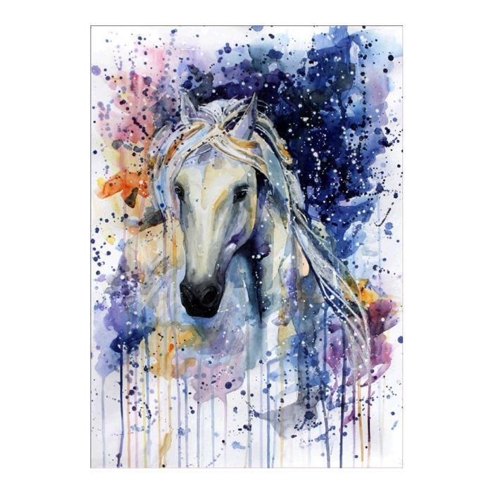 Diamond PEINTURE BRICOLAGE série cheval blanc décoration Kits Art Broderie