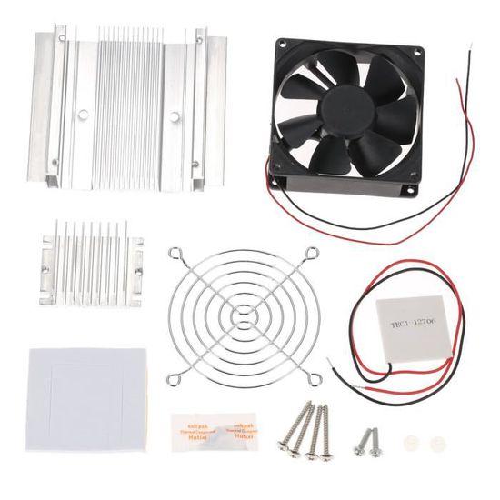 Ensembles thermo/électriques de Bricolage Syst/èmes de Refroidissement par Eau /à Refroidissement par Effet Peltier Ventilateur 2 pi/èces/Tec1-12706 Coolers Thermoelectric Peltier Cooler