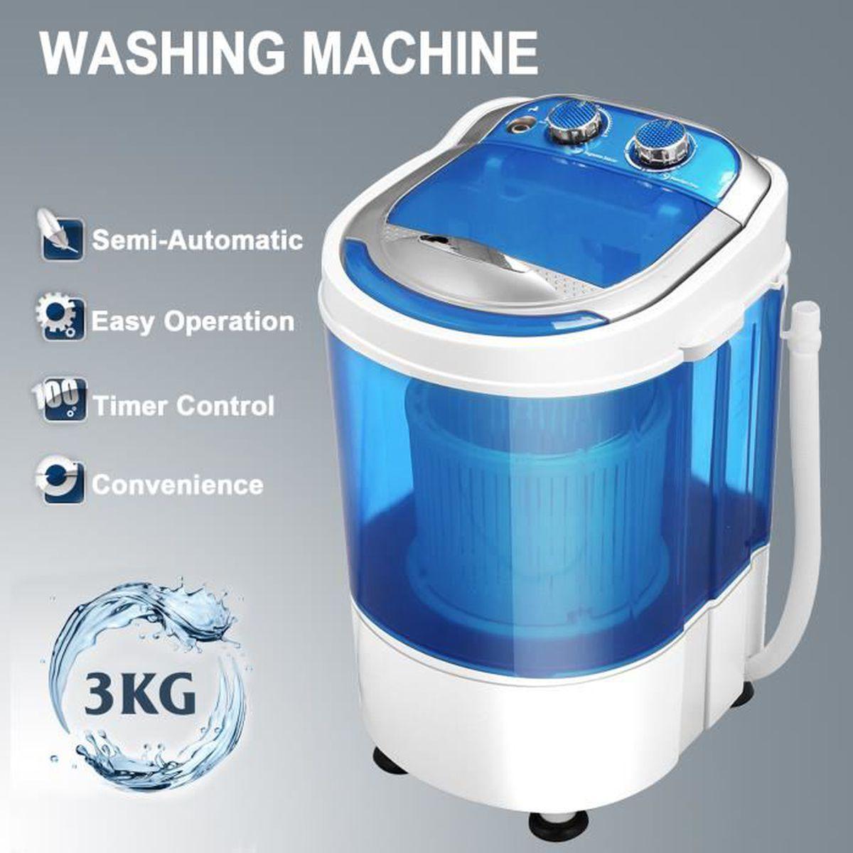 Machine À Laver Et Sèche Linge Intégré ubonheur machine à laver portable 3kg mini machine à laver