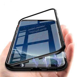 HOUSSE - ÉTUI Magnetic Adsorption Trempé phone cas Pour Samsung