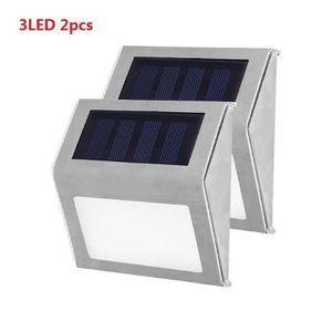 LAMPION 2 Pack Lampe Solaire Exterieur 3 LED Eclairage sol