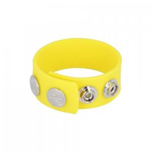 ANNEAU - COCKRING COCKRING SILICONE Cockring Wide Strap Jaune Titus