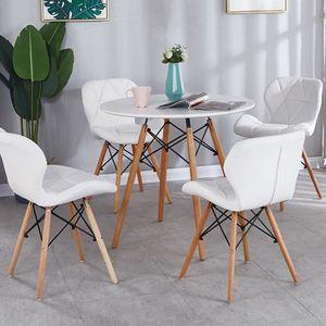 TABLE À MANGER SEULE Relaxdays Table à manger ronde 2 à 4 personnes - S