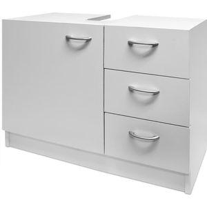 MEUBLE VASQUE - PLAN Meuble rangement sous lavabo avec 3 tiroirs - blan