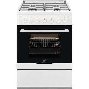 CUISINIÈRE - PIANO ELECTROLUX  - EKG61102OW - Cuisinière gaz - 4 foye