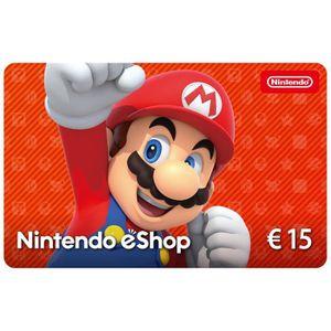 CARTE PRÉPAYÉE Carte Cadeau Nintendo eShop 15 €