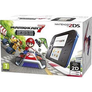 CONSOLE NEW 3DS Console Nintendo 2DS Noir / Bleu + Mario Kart 7 pr