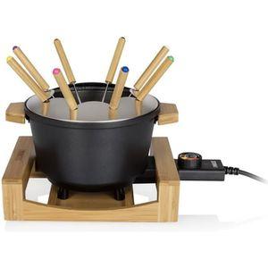 FONDUE ÉLECTRIQUE Princess - fondue 800w 8 fourchettes bamboo et fon