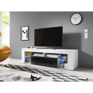 MEUBLE TV VIVALDI Meuble TV - EVEREST 2 - 140 cm - blanc mat