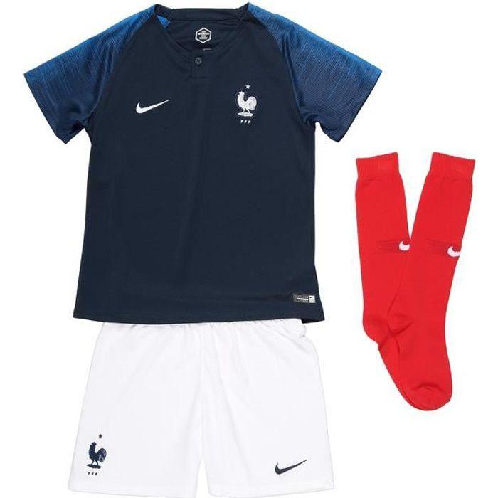 NIKE Mini kit Football Maillot + Short + Chaussettes FFF 18 - Enfant garçon - Bleu