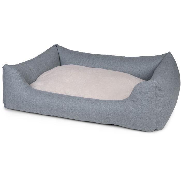 VADIGRAN Panier carré Hera - 100 cm - Vert menthe - Pour chien