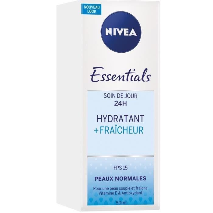 NIVEA Visage Soin de jour Hydratant Fraîcheur - Pour peaux normales à mixtes