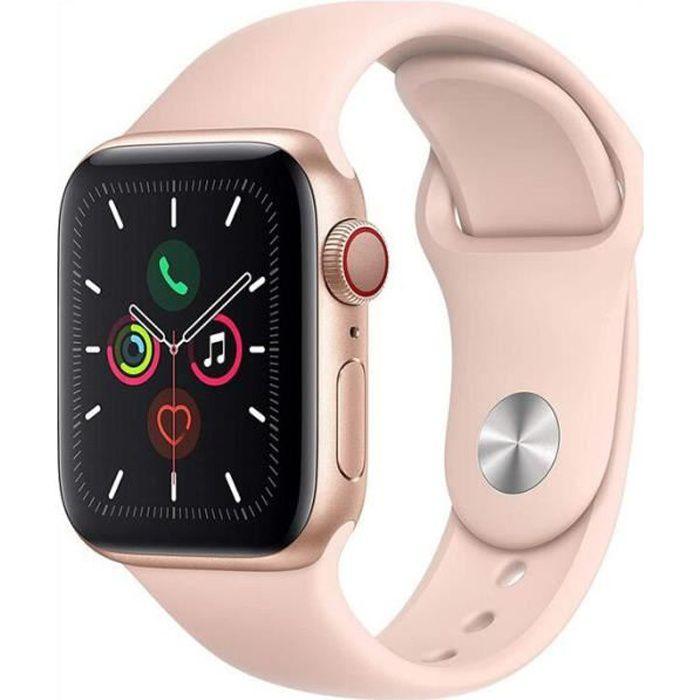 Apple Watch Series 5 WiFi + GPS Boîtier en Aluminium 40 mm avec Bracelet Sport Rose