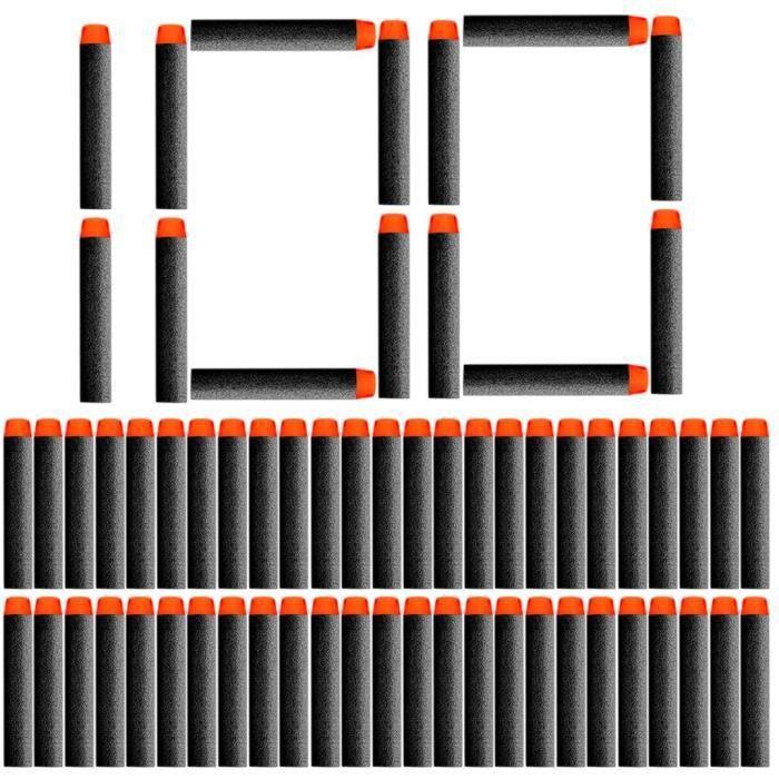 100Pcs Mousse Fléchettes Recharge Darts Refill Bullet pour Nerf N-Strike