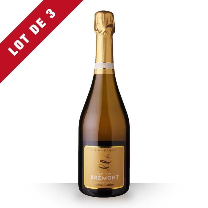 3X Bernard Bremont Prestige Brut 75cl Grand Cru - Champagne