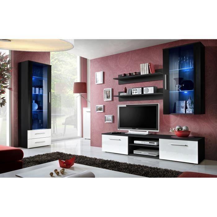 Ensemble pour salon design GALINO,noir et blanc. Meuble moderne pour votre salon.