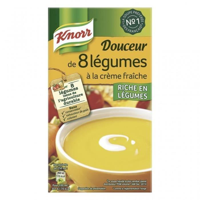 Knorr Douceur de 8 Légumes à la Crème Fraîche 1L (lot de 4)