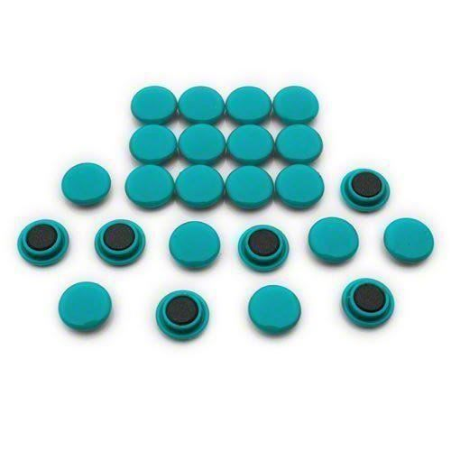 Magnet Expert Lot de 24 petits aimants pour tableaux et réfrigérateurs Vert 20 x 7,5 mm