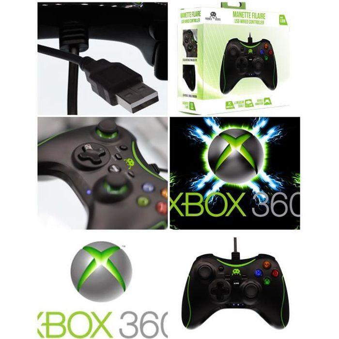Manette Xbox 360 manette Contrôleur de jeu MICROSOFT filaire 1.80M - Xbox360 Fonction TURBO