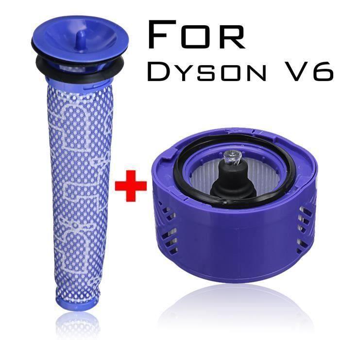 Kit De Filtres HEPA Pré-filtre + Post-filtre Sans Fil Accessoire De Remplacement Pour Aspirateur Dyson V6 Ve45473
