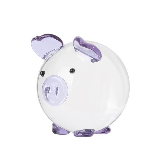 AR6999 Mignon cochon cristal Figurines Miniatures à la main en verre Animal Pet artisanat décor à la maison enfants cadeaux bureau d