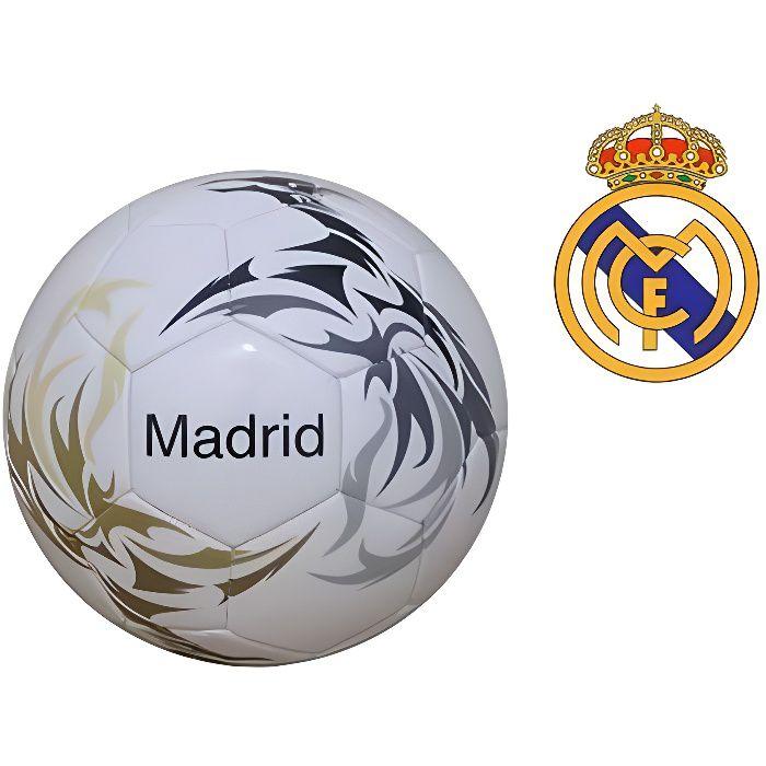 Ballon de football en cuir Real Madrid Blanc Taille 3 Officiel