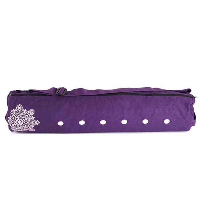Tapis de sol,Sac de rangement en toile pour tapis de Yoga et Pilates, sac de transport respirant pour tapis de Yoga - Type Violet -A