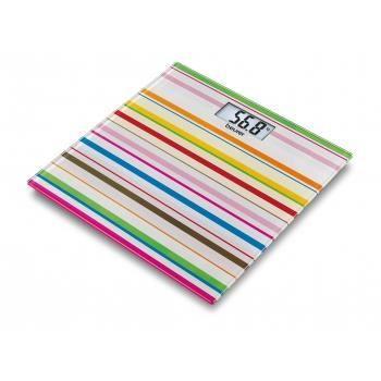 Pèse-personne en verre - Beurer GS 27 Happy Stripes