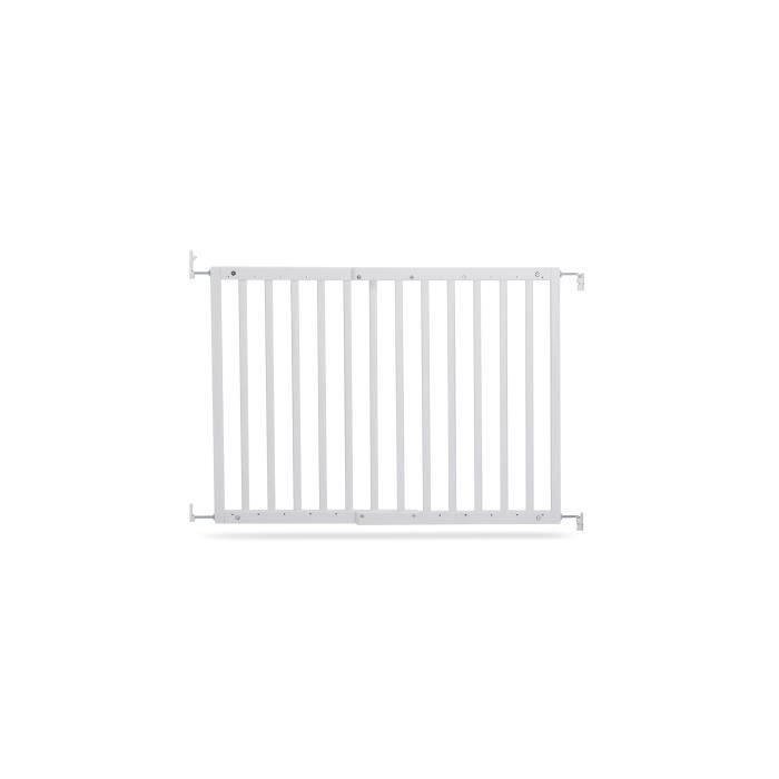 GEUTHER Barrière extensible en Hêtre coloris blanc pour porte et escalier - Réglable : 63,5 - 105,5 cm