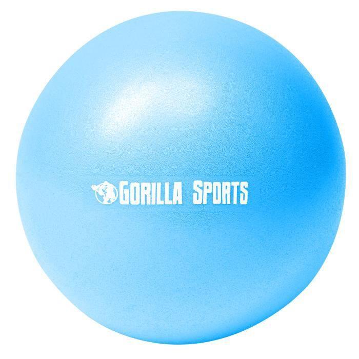 Mini-ballon d'exercice bleu, ballon léger de Pilates Soft Ball - Diamètre : 23 cm