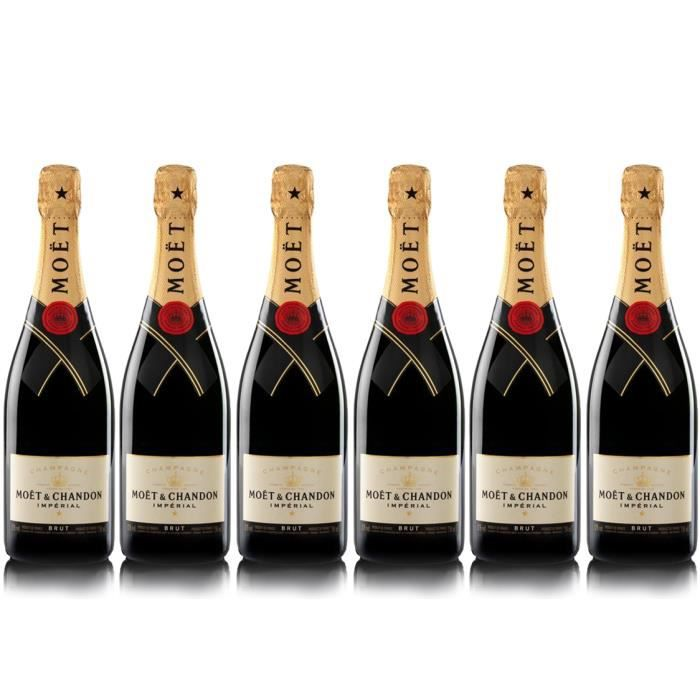 Lot 6 Champagnes Moët & Chandon Brut Moët Imperial 75cl