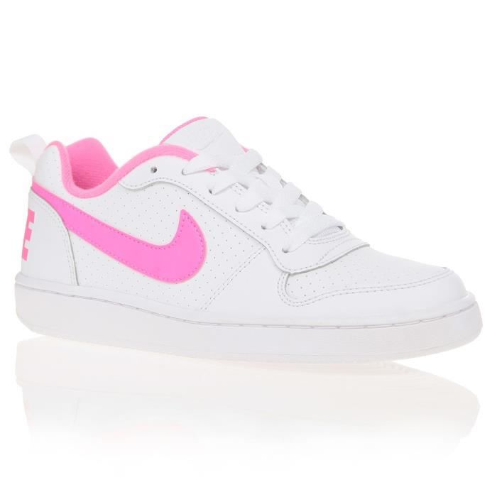 NIKE Baskets Court Borough Low - Enfant fille - Blanc et Rose