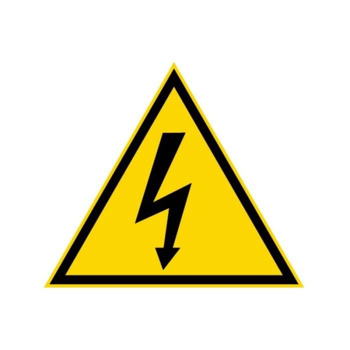 Triangle avertissement danger393 100 mm danger electrique