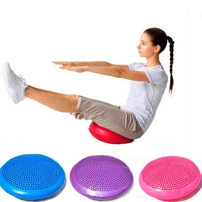 Demi balles de Yoga, Disque Gonflable d'équilibre de Yoga de Ballon d'exercice de Yoga de PVC pour Yoga - violet
