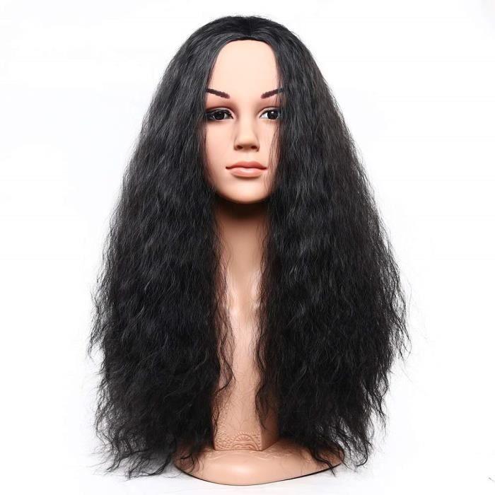 Synthétique Cheveux Afrique Longue Afro Bouclés Vague Petit Rouleau Perruques De Cheveux avec Partie Centrale Cospl#7843