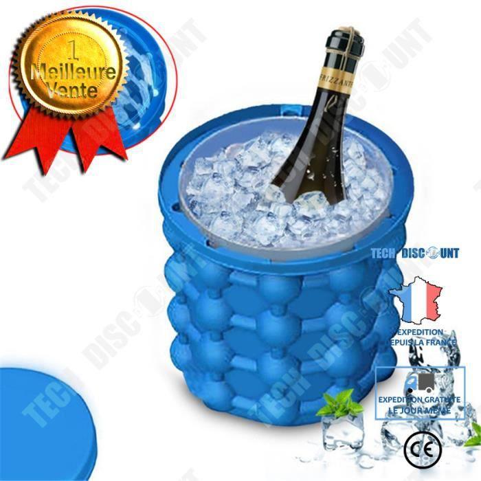TD® Seau à glace Machine à glaçons révolutionnaire économiseur d'espace Ice Cube Maker Ice Genie ustensiles de cuisine