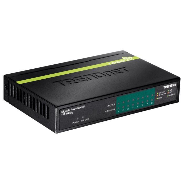 TRENDnet TPE-TG82G - Switch PoE+ 8 ports Ethernet 10/100/1000 Mbps ( Catégorie : Switch )