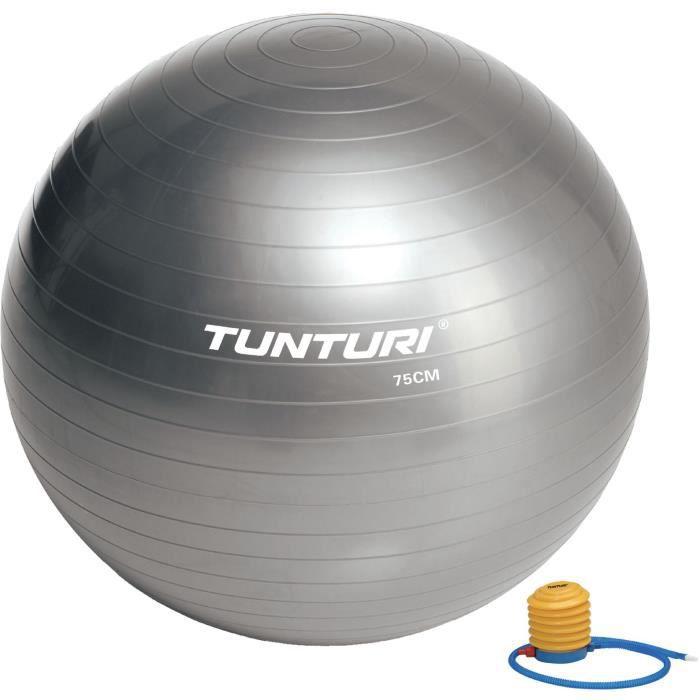 TUNTURI Gym ball ballon de gym 75cm argent