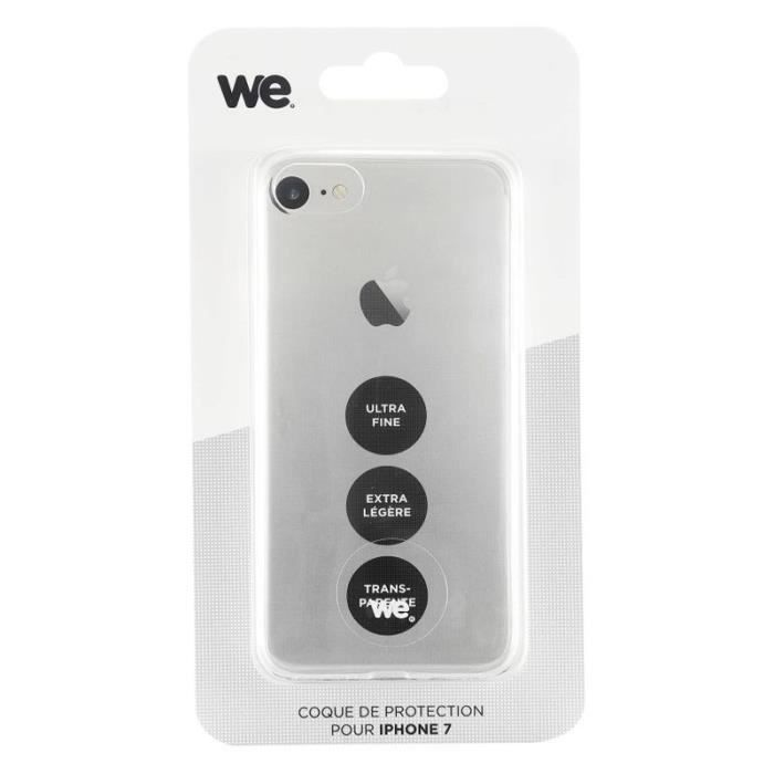 WE Coque de protection pour iPhone 7 - Semi rigide - Transparente