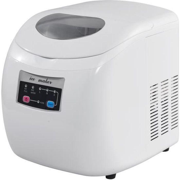 WOLTU Machine à glaçons, Machine à glace, 2.8 L, 35x28x32 cm, Blanc