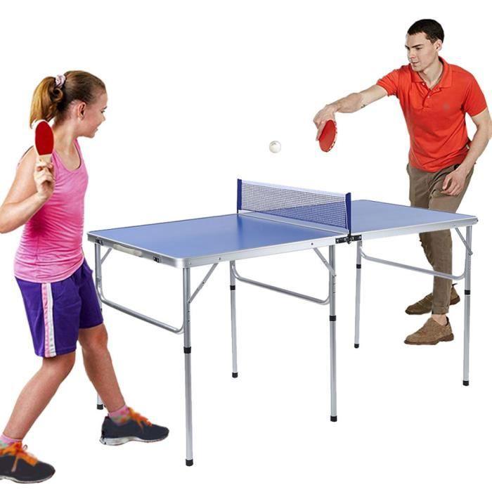 Accessoire d'intérieur durable de ping-pong réglé avec la table pliable nette de tennis de table-JIY