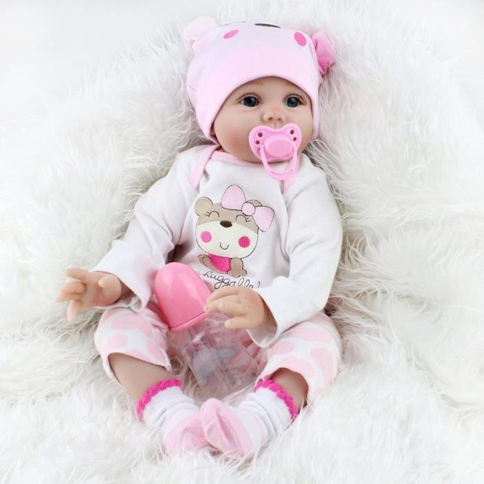 POUPÉE Lifelike Baby Doll 55cm Réincarné nouveau-né fille