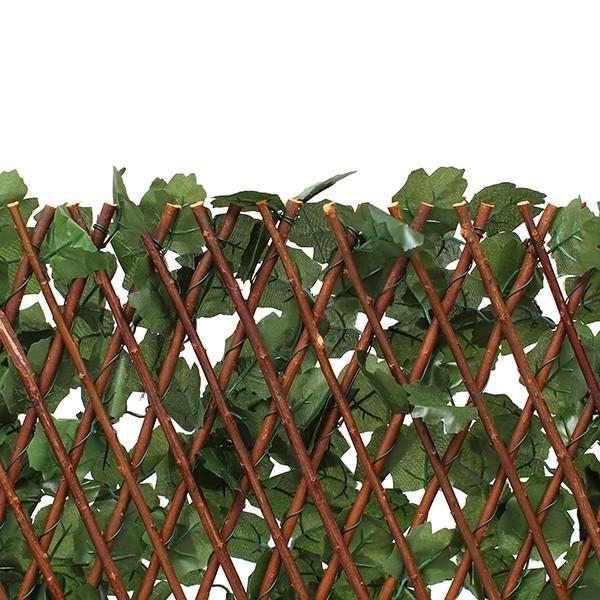 Treillis extensible en bois de saule feuillage artificiel chanvre